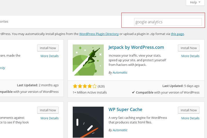 Plugins search by keywords