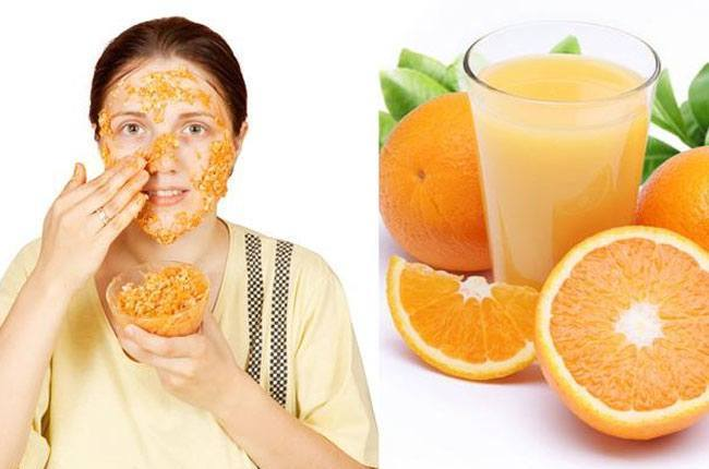 Dried orange peel and curd face mask