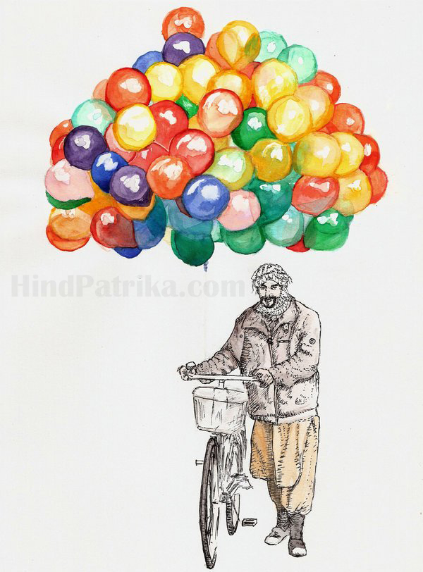 Man Selling Ballon Hindi Story