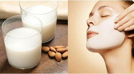Powder milk and almond oil face pack