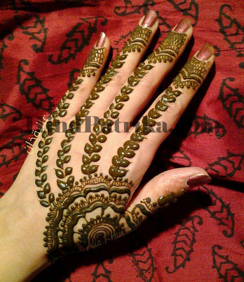 Mehndi ki design mehndi ki beautiful designs hind patrika for Kichan ki dizain