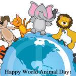 विश्व पशु दिवस मस्सेजिस   World Animal Day Messages in Hindi