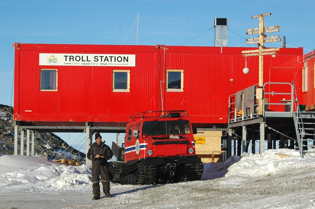norway station in antarctica.