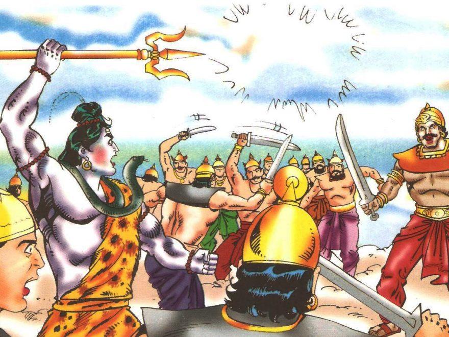 शिव और शंखचूड़ का युद्ध