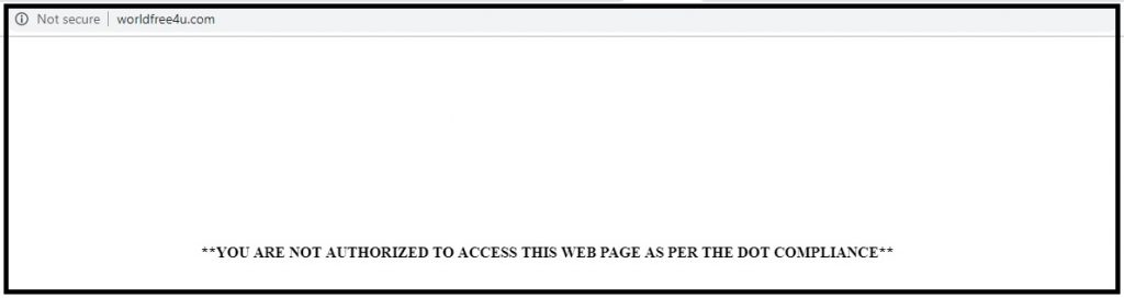 worldfree4u blocked in India
